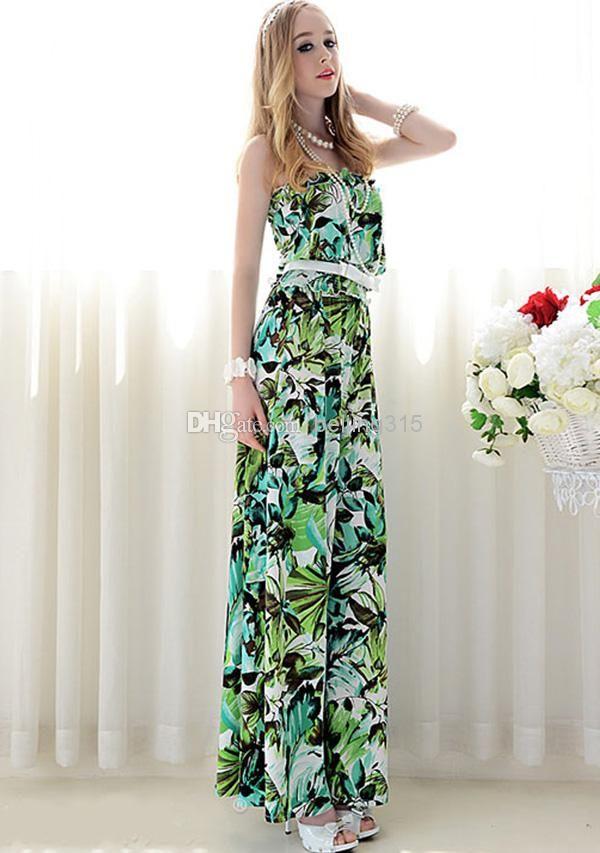 Summer Plus Size Women Sexy Strapless Loose Dress Pants Jumpsuits