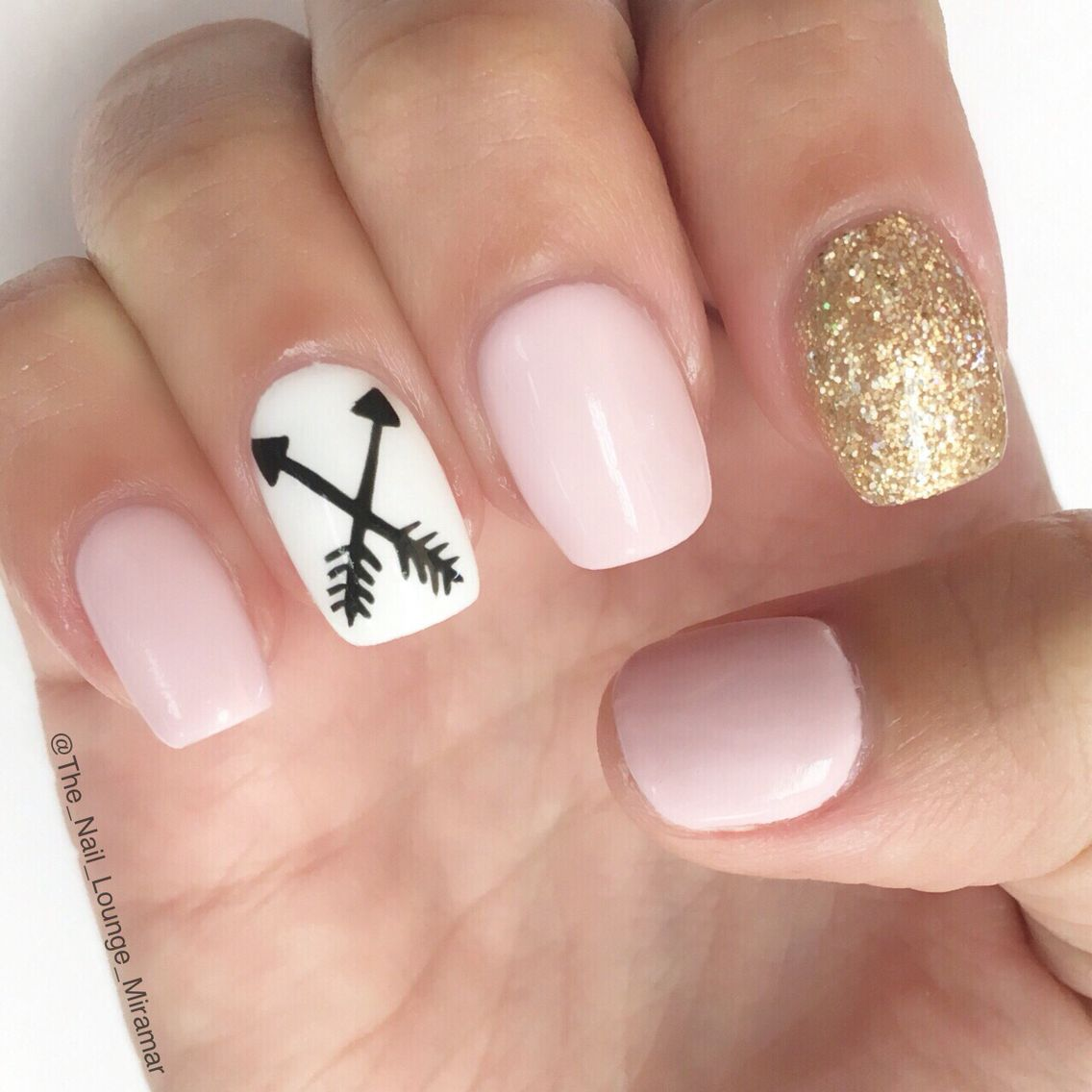 Arrow Nail Art Design Arrow Nails Short Nail Designs Nails