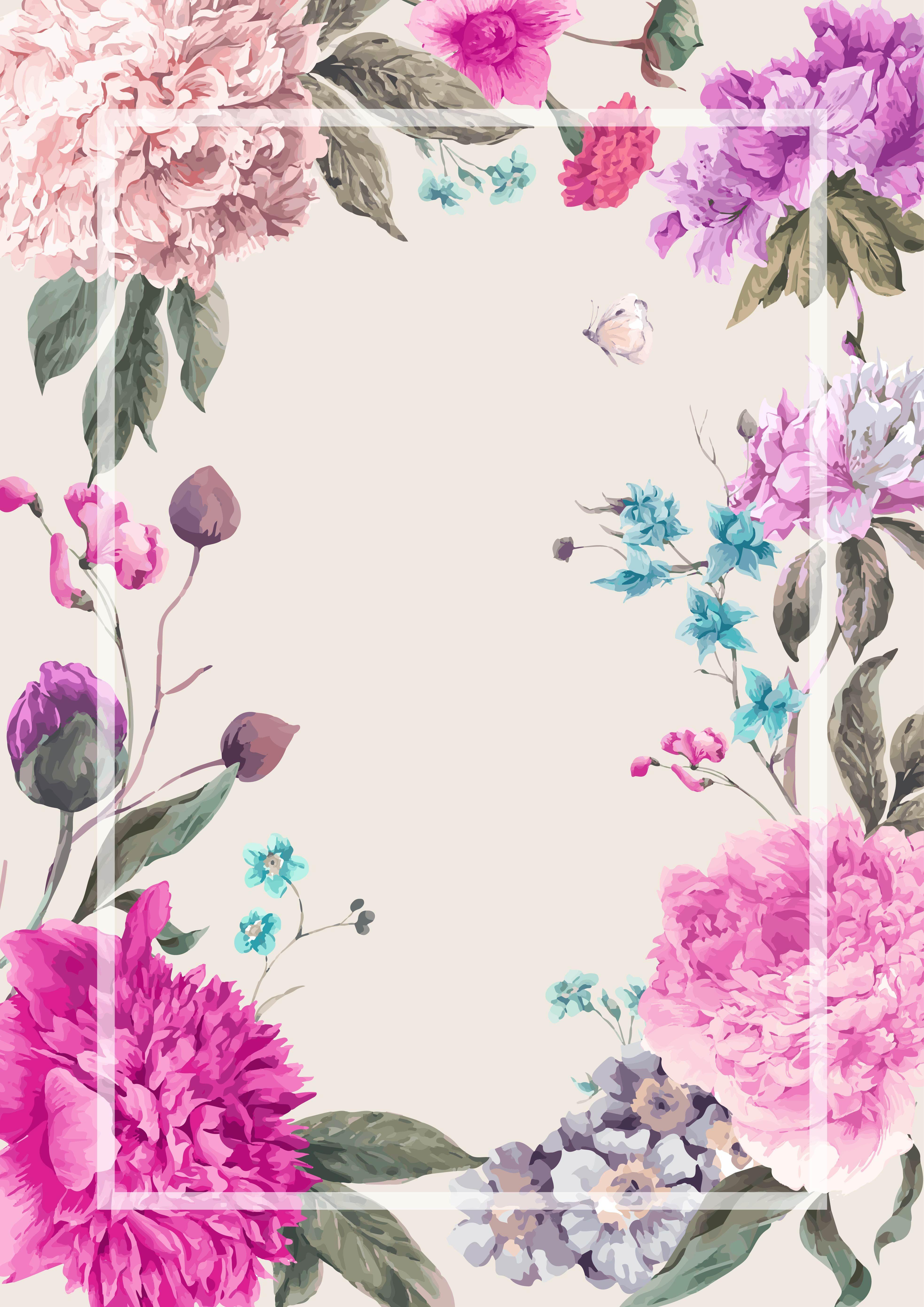 Creative Watercolor Flowers Watercolor Flowers Vector Art Card