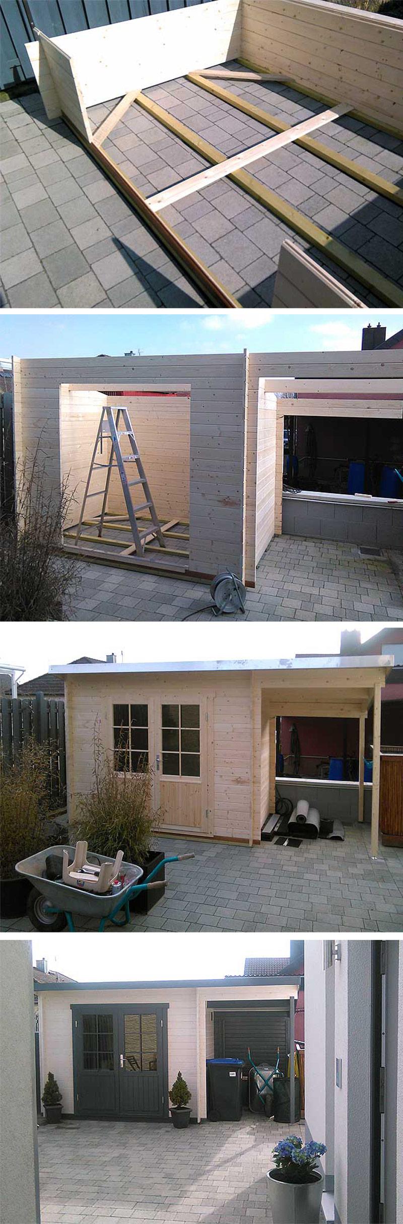 Gartenhaus Martina28 ein Aufbau mit Erweiterungen Die