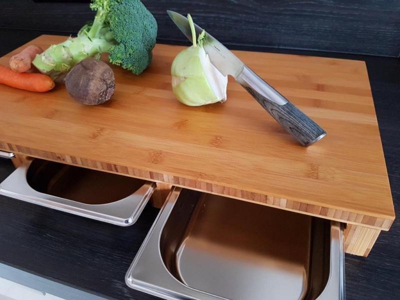 Ihr praktischer Küchenhelfer mit Auffangschalen - funktional und ...