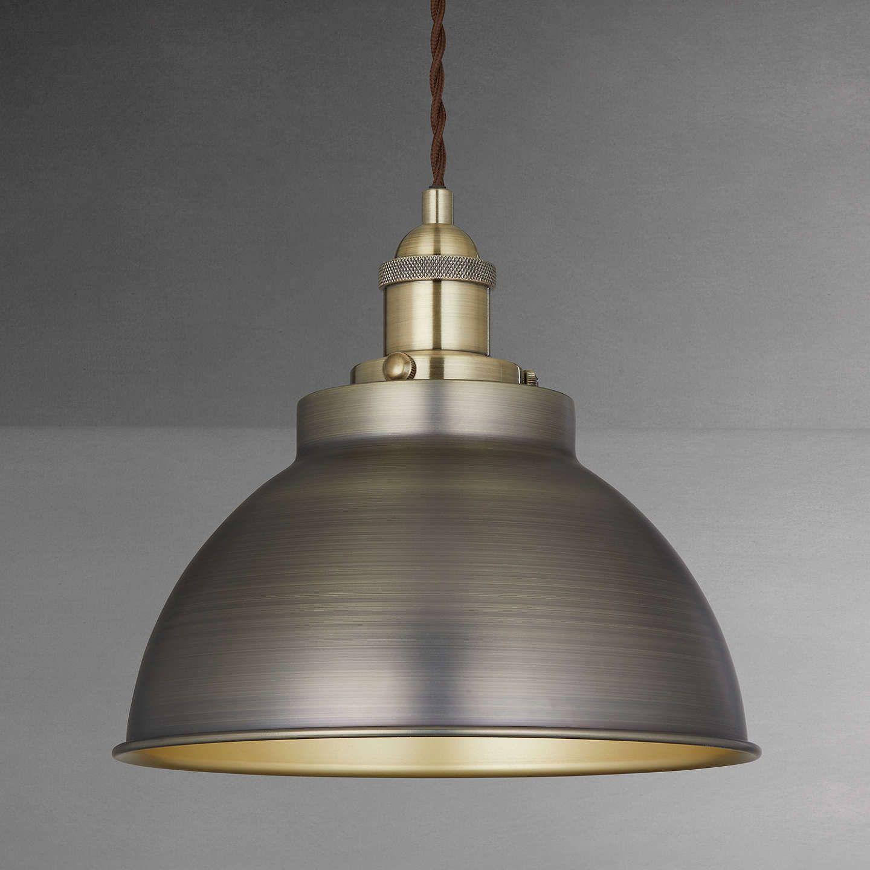 John Lewis Amp Partners Baldwin Pendant Ceiling Light Pewter Copper Ceiling Lights Cool