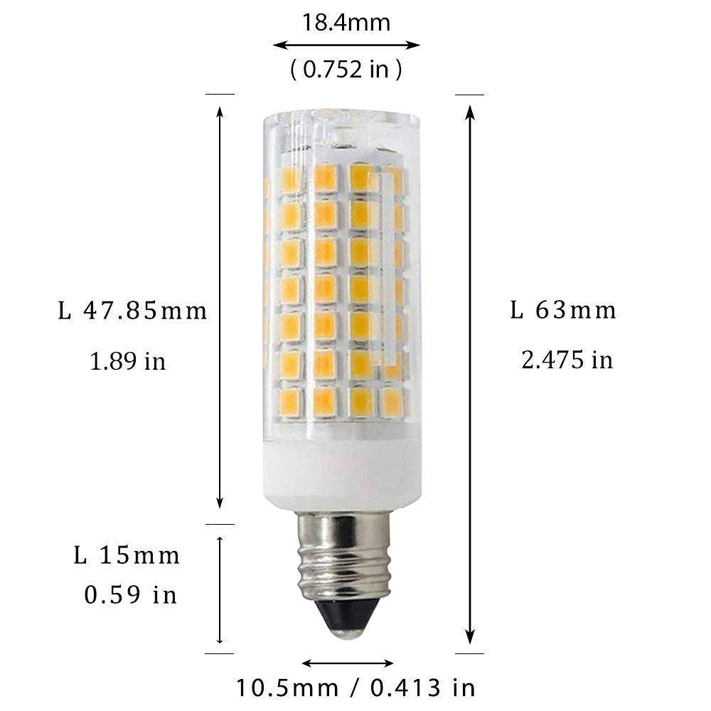 E11 Led Bulbs 7w 70w Ceiling Fan Halogen Bulb Equivalent 850lm Jd E11 Mini Candelabra Base T3 T4 Led Bulbs For Chandeliers H Light Bulb Led Light Bulb Led Bulb