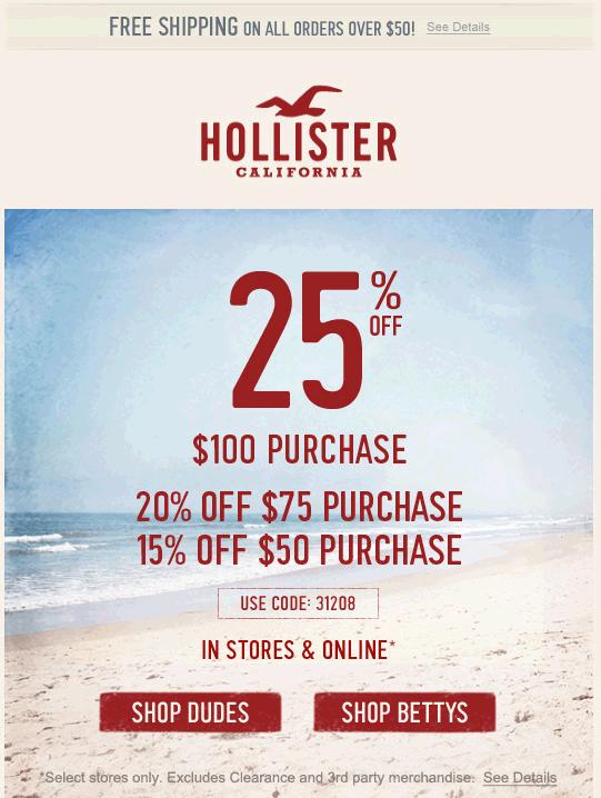 hollister 20 off