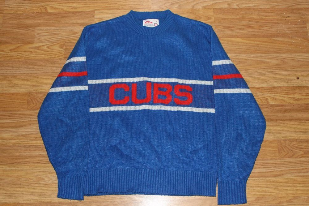 Details About Vtg 70s 80s Rare Chicago Cubs Sweater Jersey