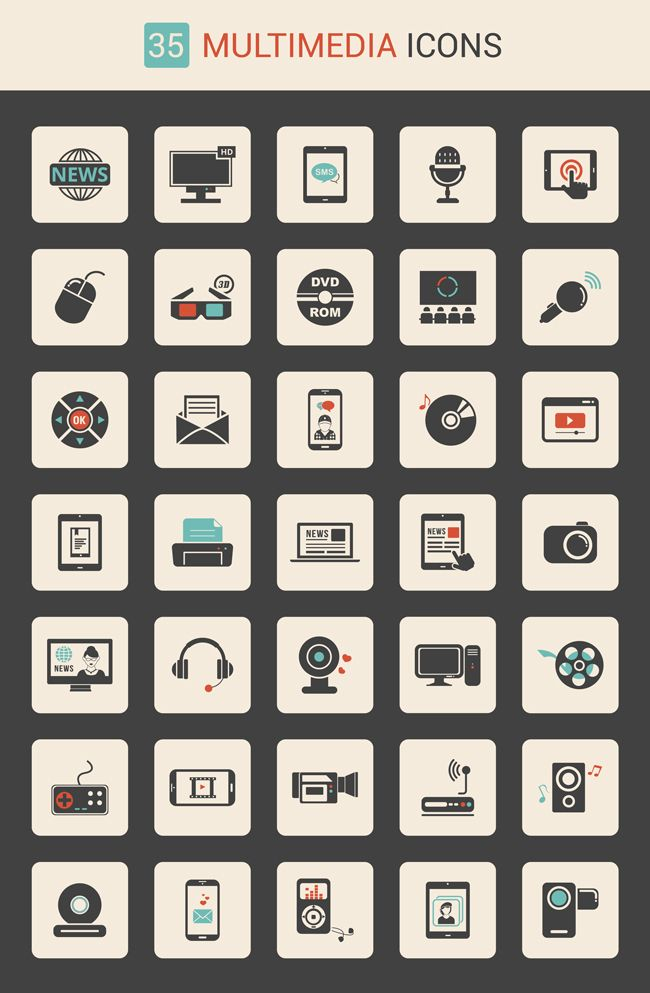 Free Download 35 Multimedia Icon Set Exclusive Multimedia Icon Set Free Icon Set