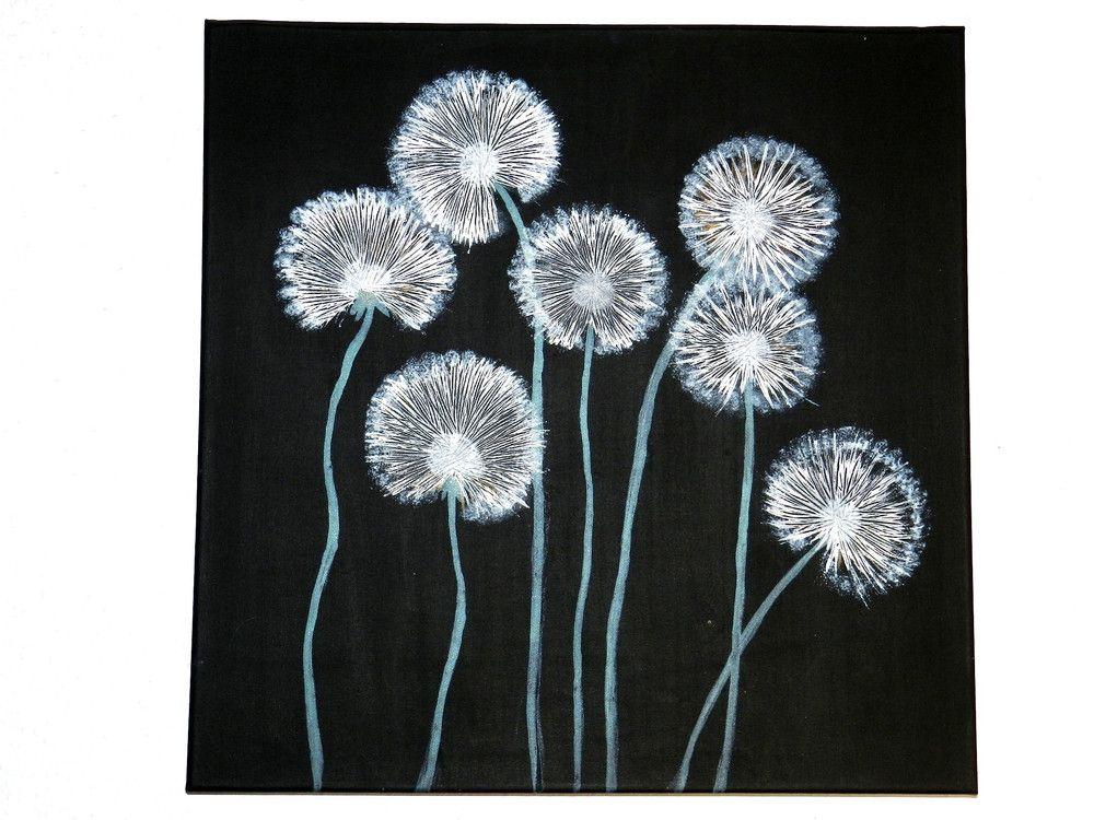 Einfach Malen Pusteblumen Acrylmalerei Easy Painting