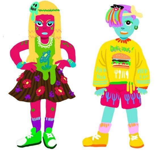 #Boy&Girl #Fashion #Illust #Cute #Kid #Color