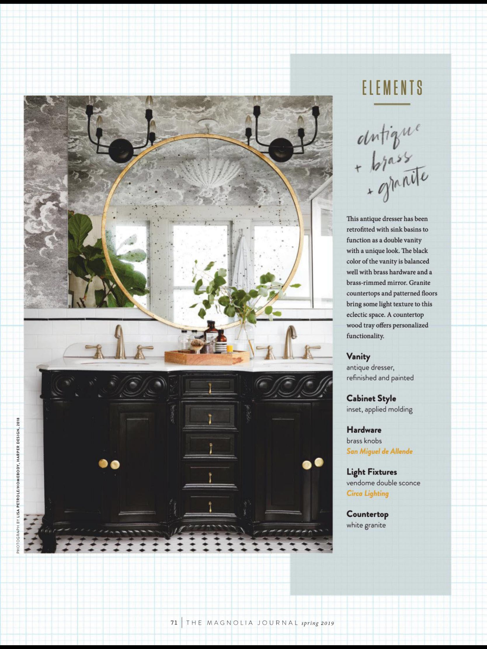 Bathroom Vanities From The Magnolia Journal Spring 2019 Read It