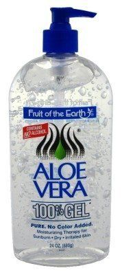 Fruit Of The Earth Aloe Vera 100 Gel Crystal Clear 24oz 2 Pack