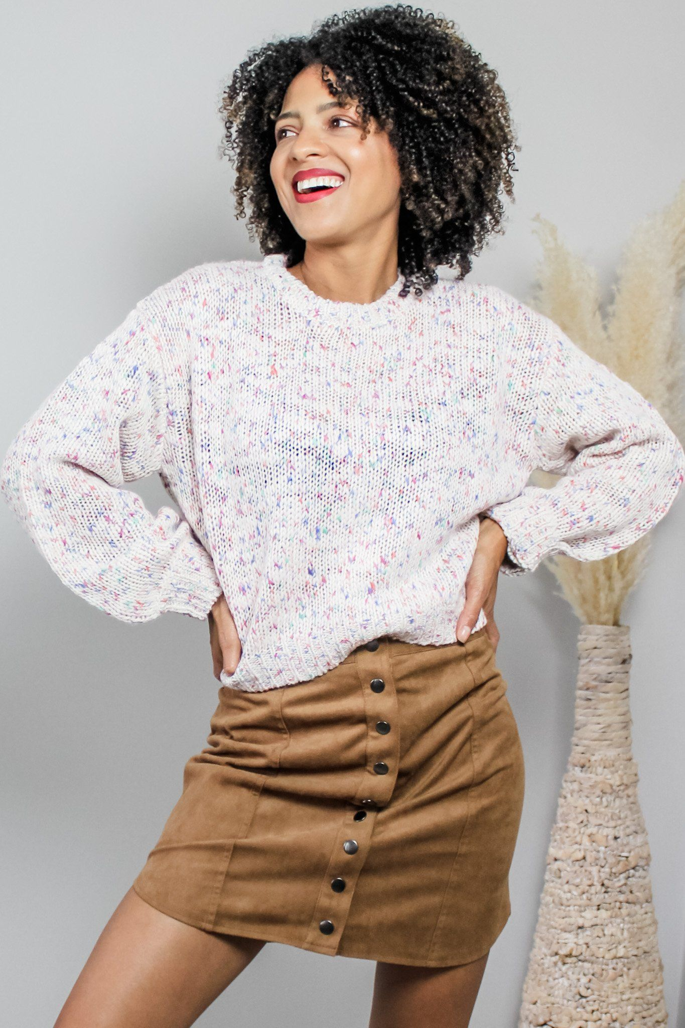 DN knitted multicolour sweater | Fashion, Sweaters, Knitted