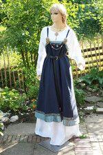 WIKINGER,Mittelalter,Kleidung,Schürze,Überkleid,maßgefertigt aus Leinen, Baumwolle, bei mittelalter-fashion.de