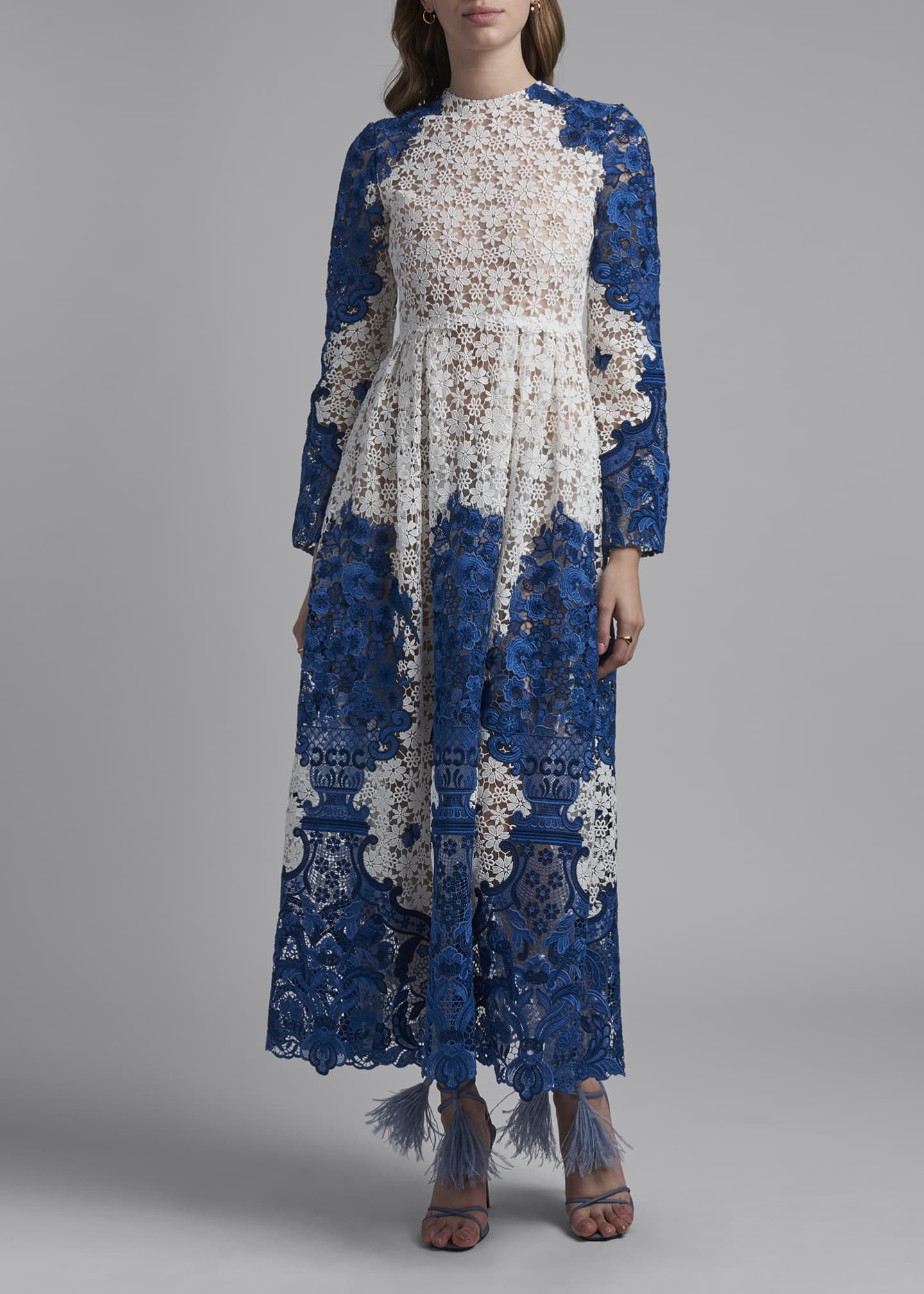 Valentino Long Sleeve Embroidered Lace Maxi Dress Bergdorf Goodman Lace Maxi Dress Lace Maxi Embroidered Lace [ 2016 x 1440 Pixel ]