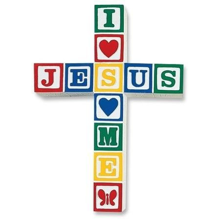 Jesus Loves Me Blocks-Primary Colors