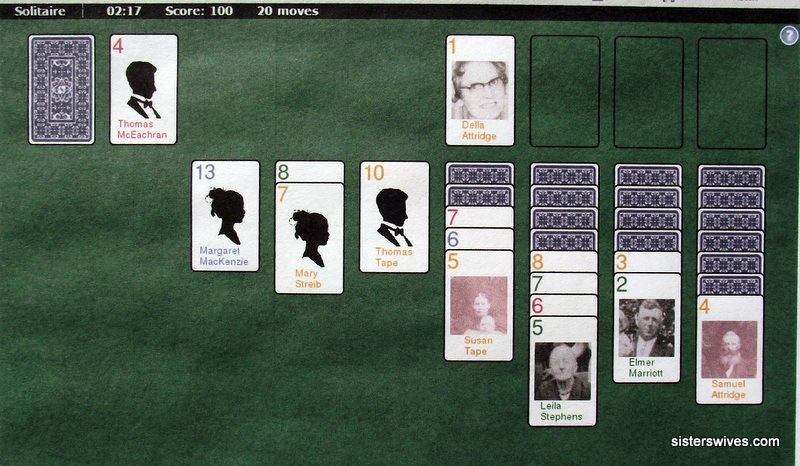 Fan Charts and Solitaire Family history, History, Chart