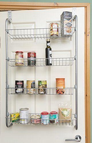 DIRECT ONLINE HOUSEWAR 4 Tier Over Door Hanging Rack/Shelves For Pantry Or  Storage