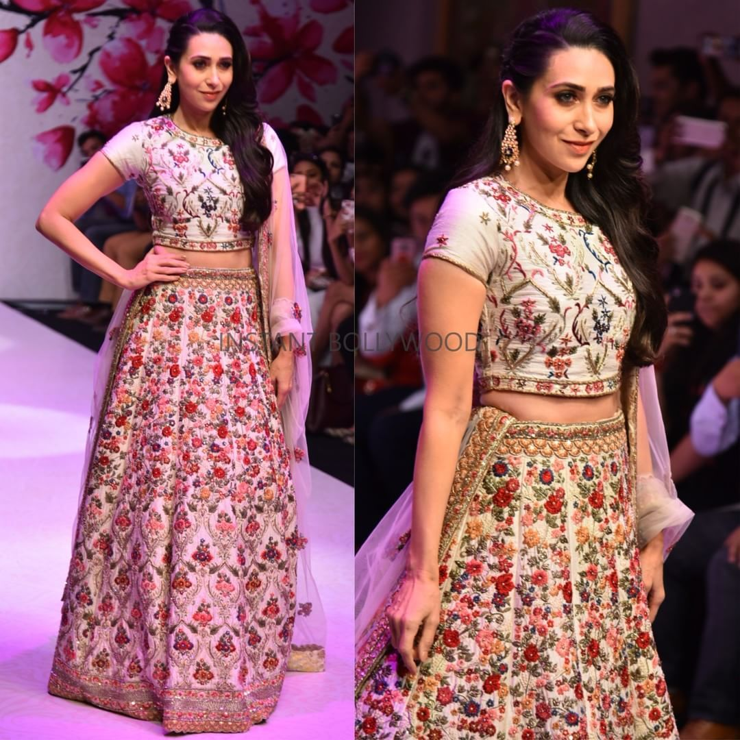 Yay or Nay . Karishma Kapoor walks the ramp at a Fashion event in ...