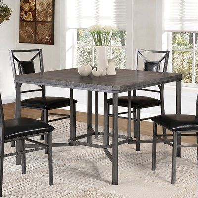 Winston Porter Falkville Dining Table Tidy Room Solid Wood