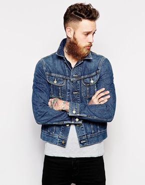 Enlarge Lee Denim Jacket Rider Slim Fit Epic Blue | Men's Looks ...