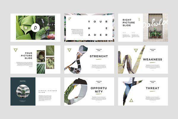 Dahuloe PowerPoint Template - Presentations Design + Pinterest - powerpoint brochure template