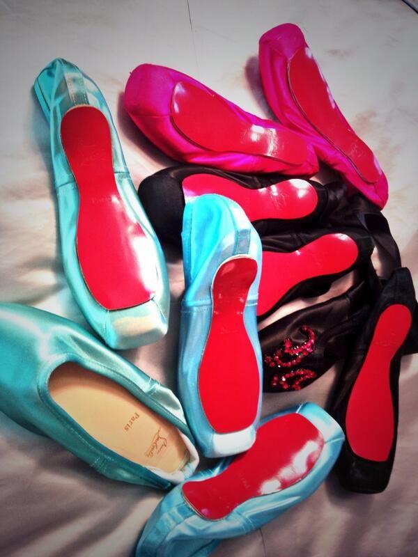 d116dac0e0e Dita Von Teese s Christian Louboutin pointe shoe collection!