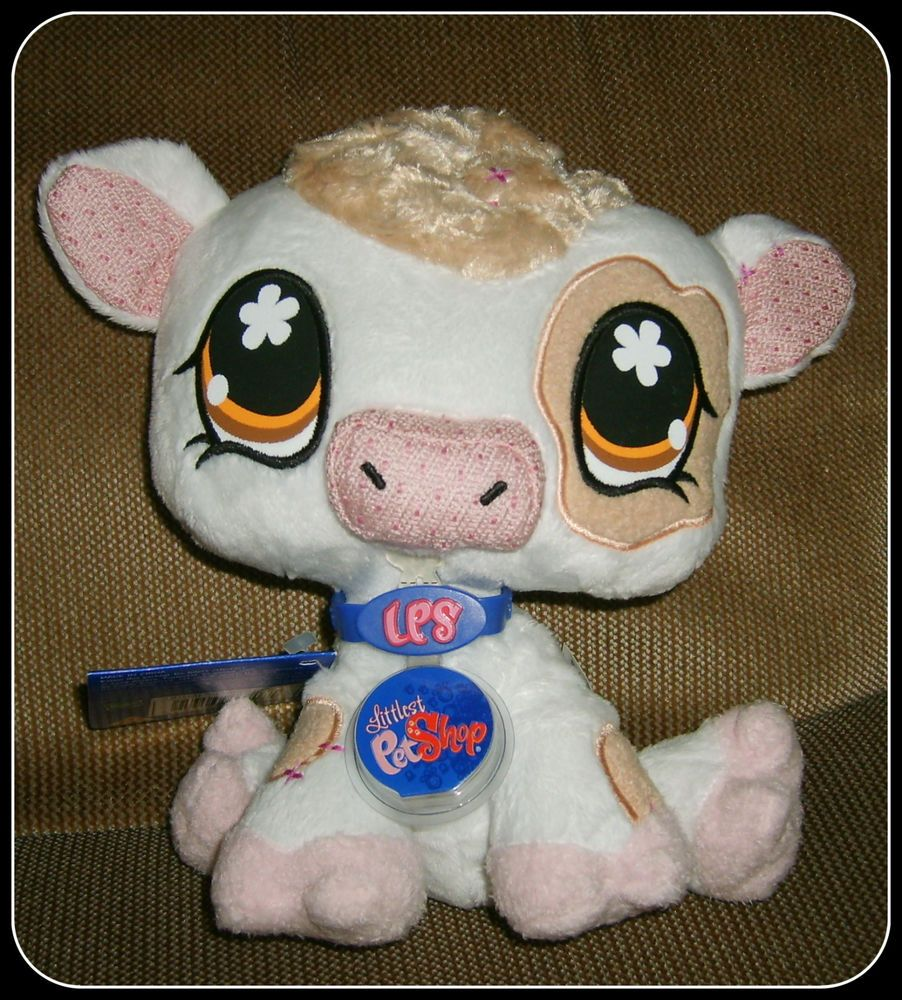 Littlest Pet Shop Vip Cow Plush Nwts 2008 Release Hasbro Littlest Pet Shop Pet Shop Little Pet Shop