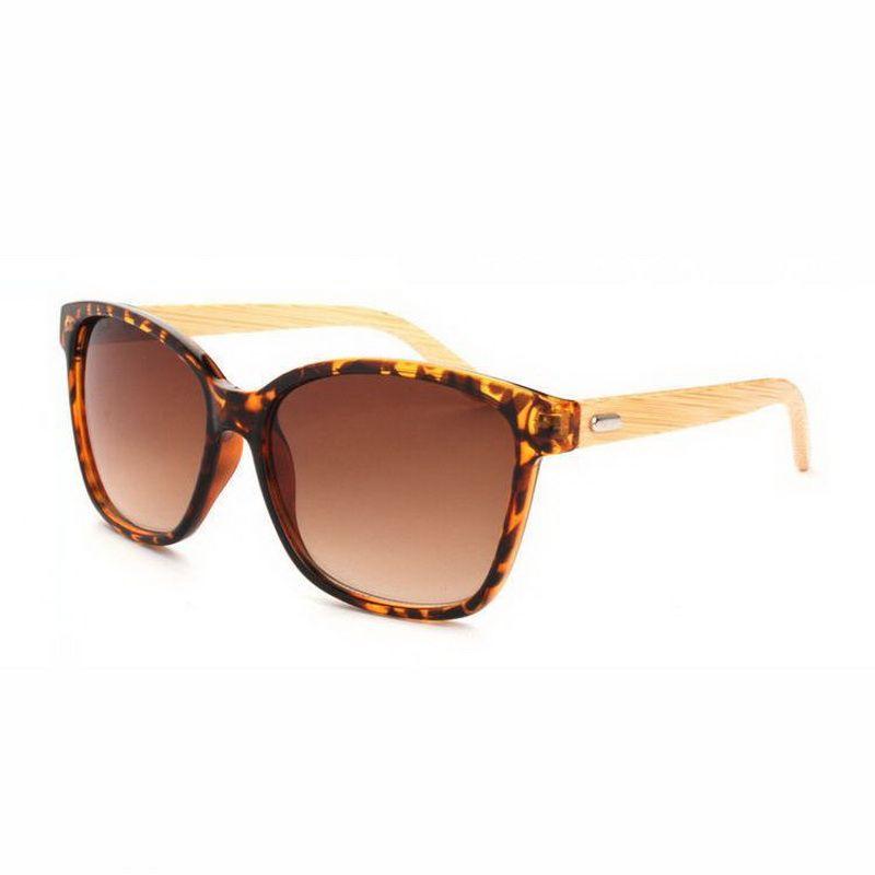 be8ef592986c Wooden Handmade Vintage Sunglasses Tortoise Frame Brown Lens Bamboo Side  Temple