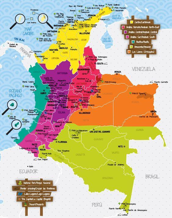 Viajar a Colombia - Guía de Viajes Colombia colombia Pinterest - best of world map japan ecuador