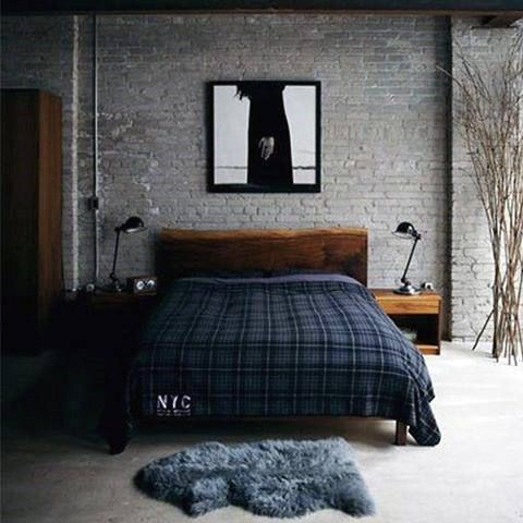 Brick Wall Bachelor Pad Bedroom Paint Colors For Men Jake room