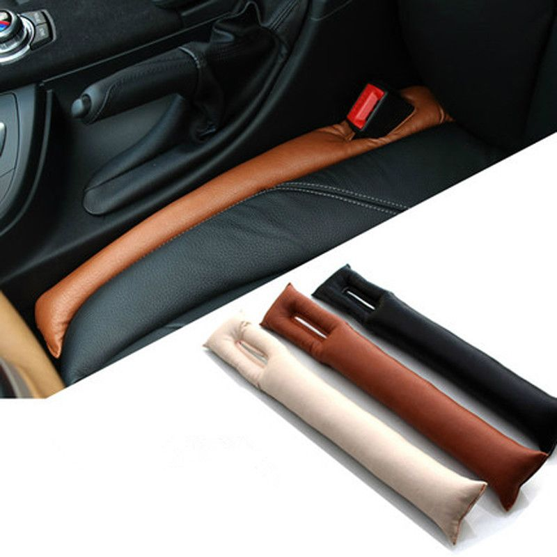 c5aa532c3052 2 pcs Faux Leather Car Seat Gap Pad Fillers Holster Spacer Filler Padding  Protective Case Auto
