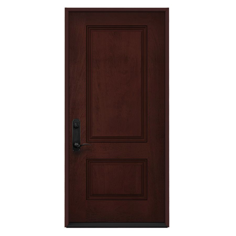 Jeld Wen Right Hand Inswing Wineberry Stained Fiberglass Prehung Entry Door With Insulating Core Common 36 In X 80 In In 2020 Entry Doors Fiberglass Entry Doors Since they open to the outside, exterior doors attract public attention and should be both practical and stylish. pinterest