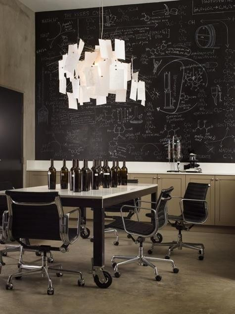 Belle Maison   Nicole Hollis Chalkboard Wall In Office