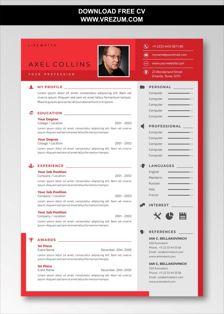 Editable free cv templates for computer science in