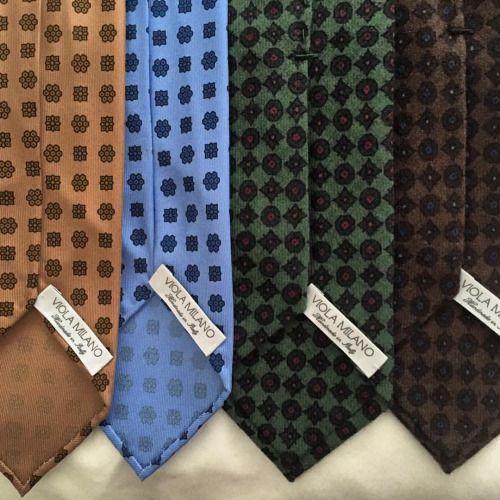 New printed silk & wool ties for our friend... | Viola Milano