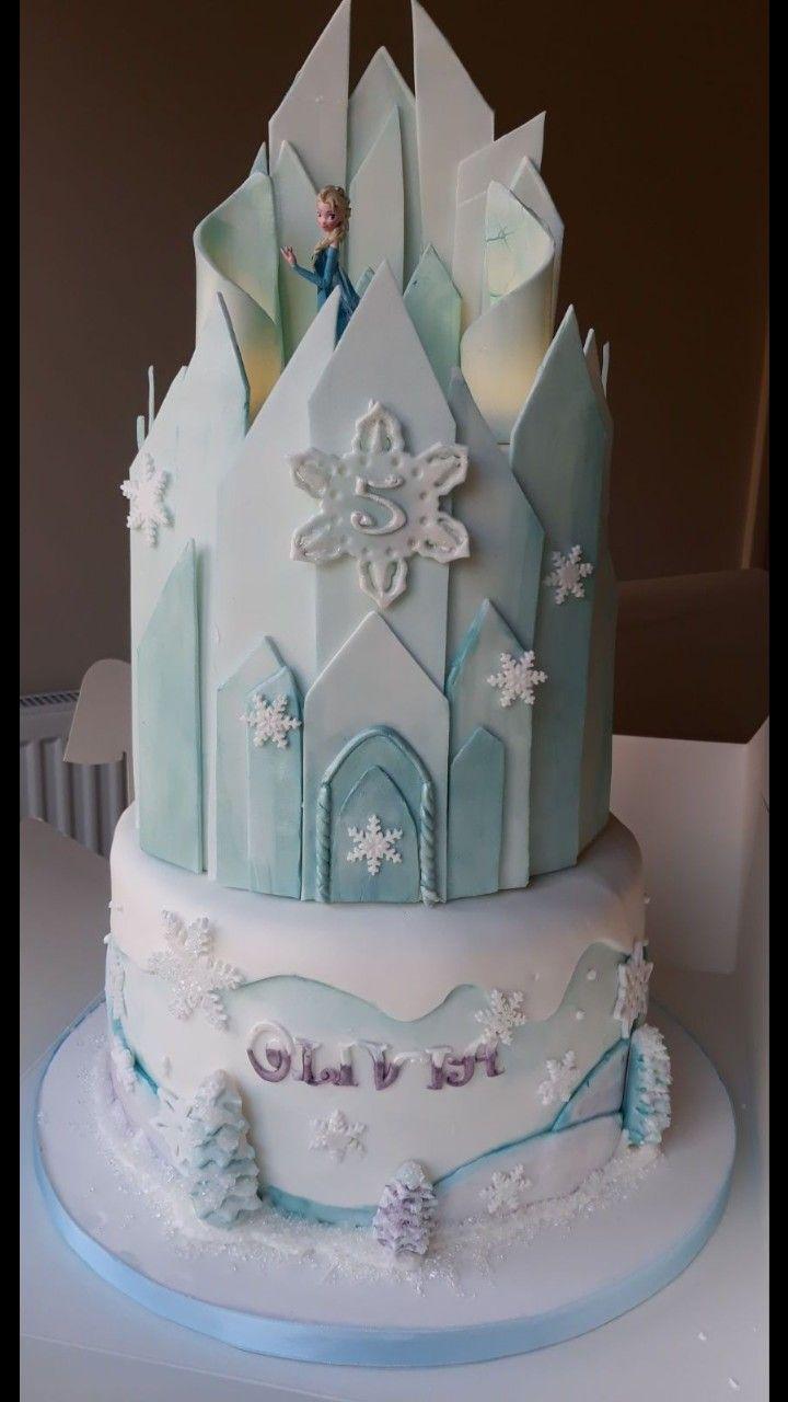 Frozen Elsa Inspired Birthday Cake 2 Tier Chocolate With