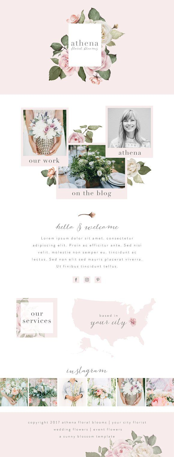 Wix Website Template by Sunny Blossom Designs on @creativemarket ...
