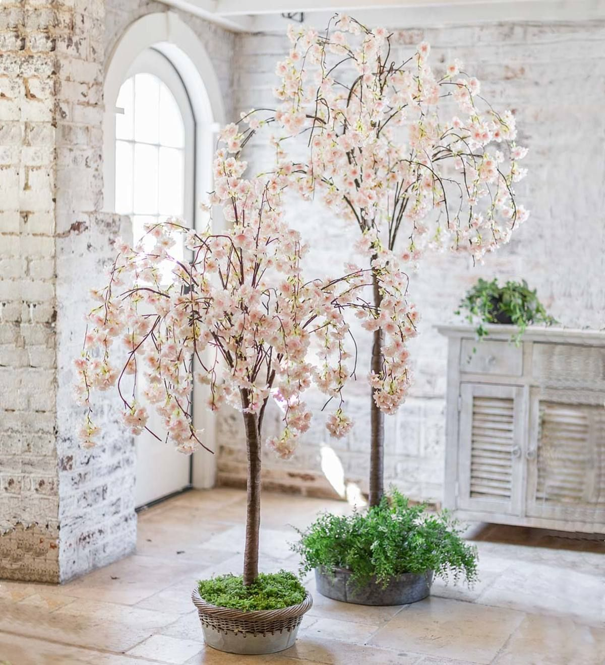 Lighted Faux Weeping Cherry Tree Artificial Cherry Blossom Tree Weeping Cherry Tree Blossom Trees
