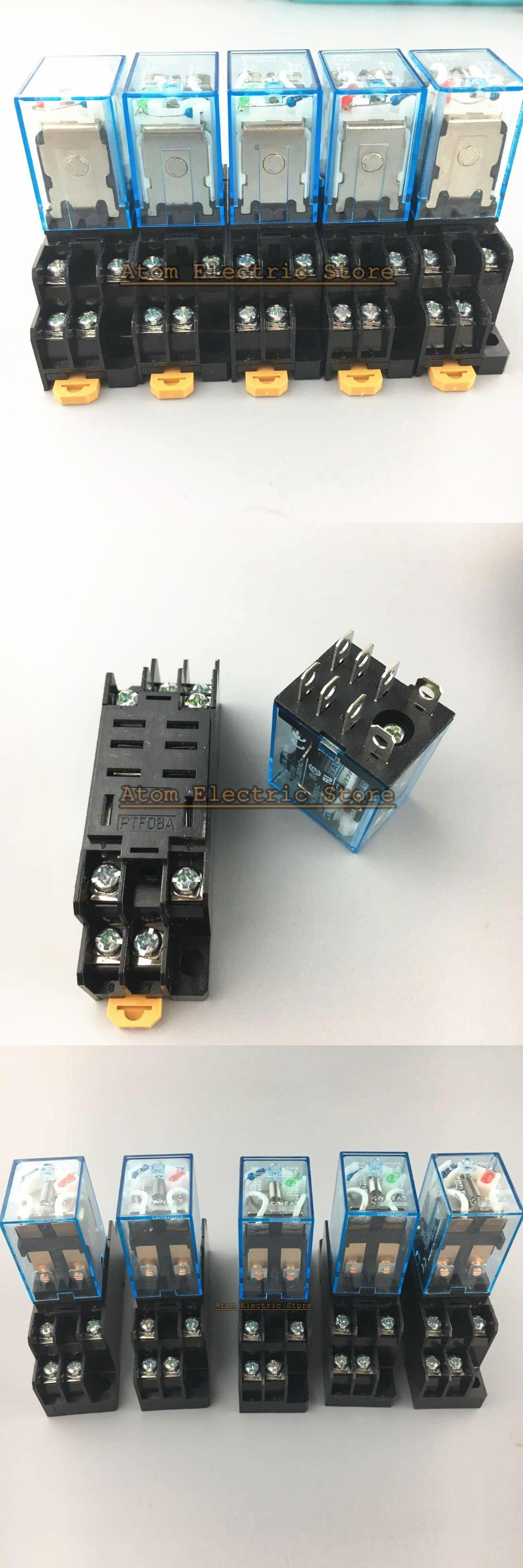 Visit to Buy] 5sets LY2NJ 220V 10A Coil Power Relay DPDT HH62P ...