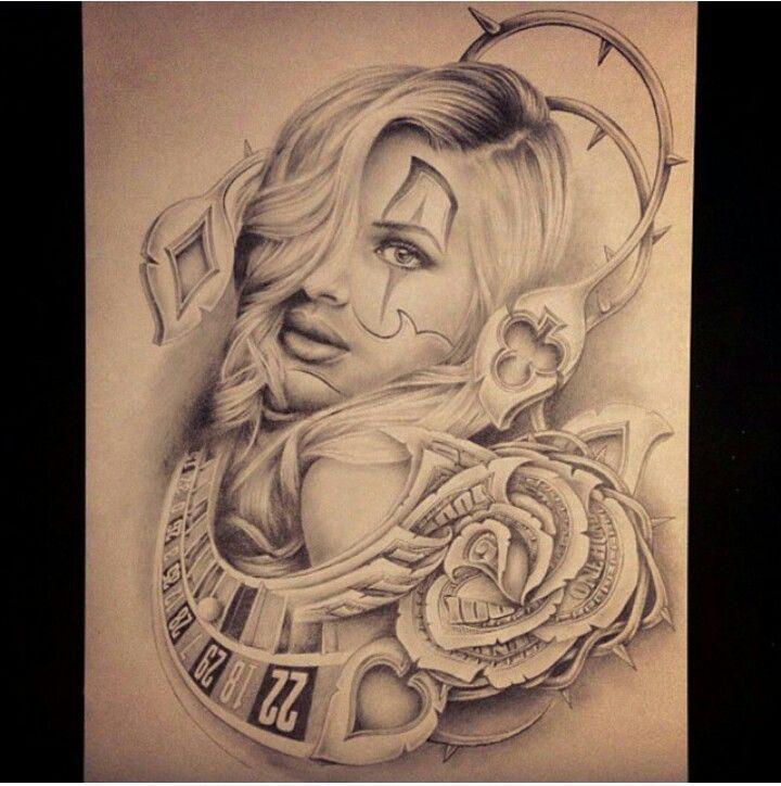 Tattoo Gamble Smile Now Chicano Google 検索 Gambling Tattoo
