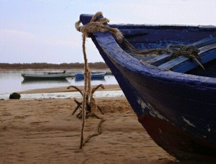 Barca en El Rompido -Cartaya. Fotografía M. Teresa Gómez.