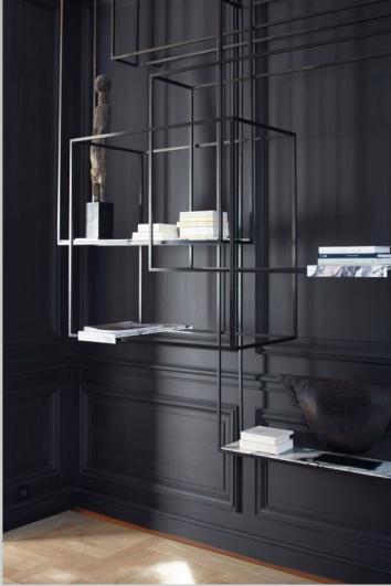 Une jolie étag¨re métal fine meuble biblioth¨que