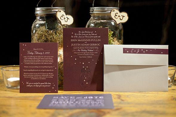 firefly wedding invitation, photo by mayamyers.com