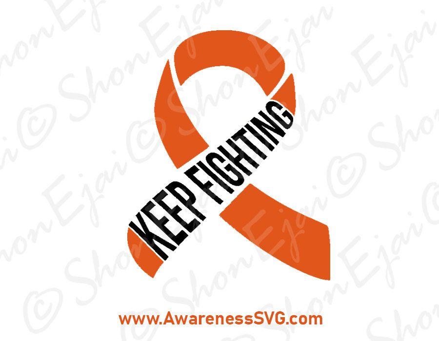 Pin On Orange Awareness Ribbon Svg