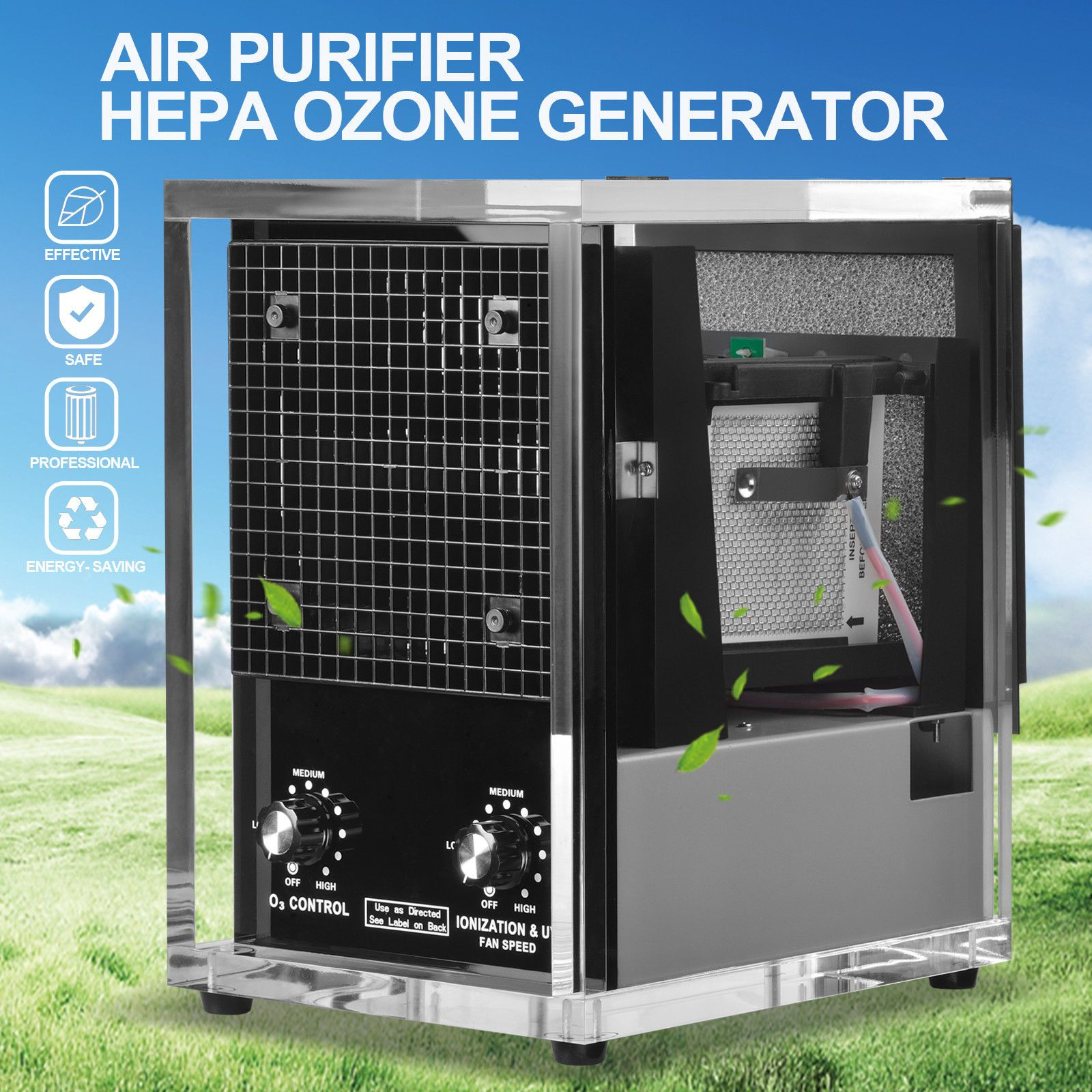 Commercial 6 Stage Air Purifier Cleaner Industrial HEPA UV