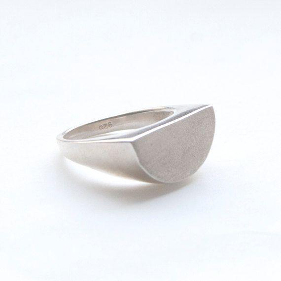 half-moon sterling silver ring