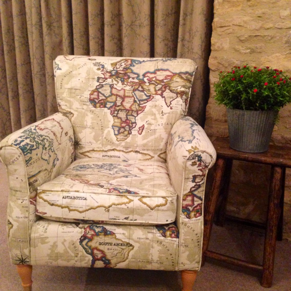 beautiful chair cover hire oxfordshire dining seat pads my own reupholstered in vintage map fabric from just