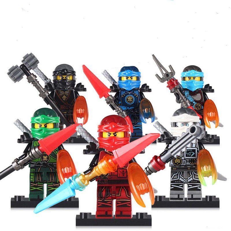 24 LOTS Ninjago Mini Figures Kai Jay Sensei Wu Master Building Blocks Toys