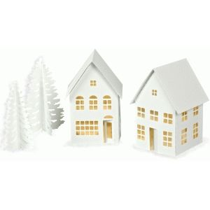 3d Tea Light Village Town House And Shops With Images Tea Lights House Template Design Store