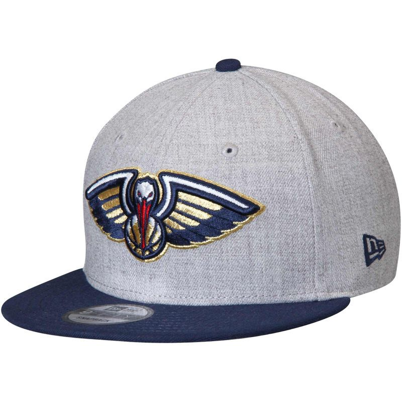 separation shoes cd343 a5a7f New Orleans Pelicans New Era 2-Tone 9FIFTY Adjustable Snapback Hat -  Heathered Gray Navy