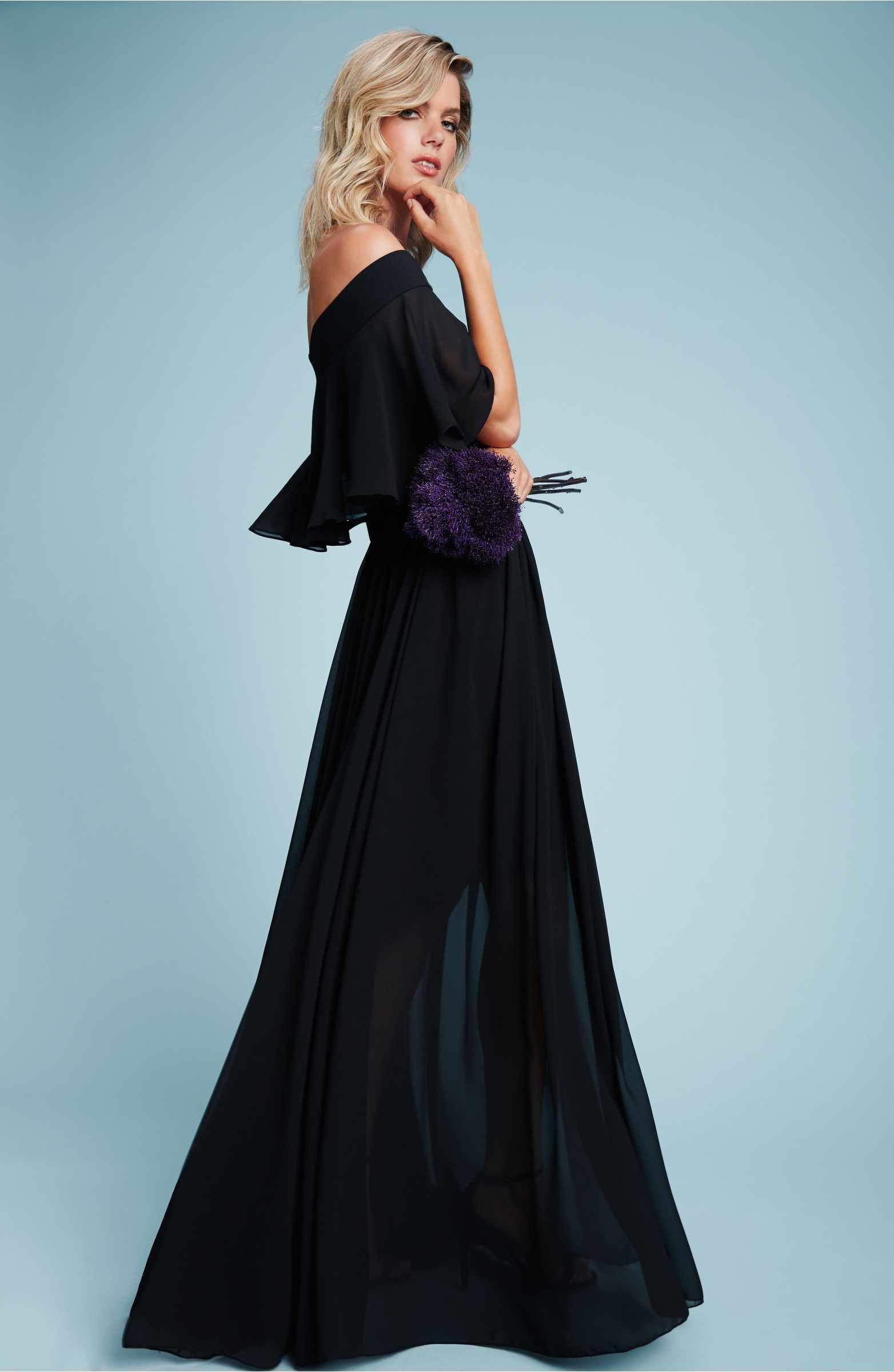 Main Image - Dress the Population Violet Off the Shoulder Chiffon ...